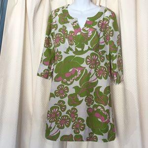 Boden floral linen dress Sz US8U K 12